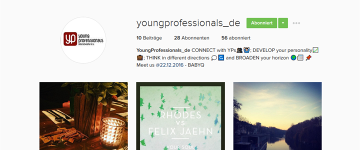 Follow us on Instagram: youngprofessionals_de